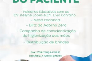 Santa Fé realizará atividades para marcar Dia Internacional da Segurança do Paciente